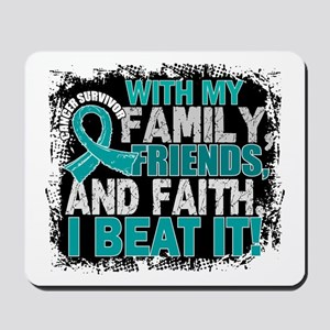 Ovarian Cancer Survivor FamilyFriendsFai Mousepad