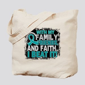 Ovarian Cancer Survivor FamilyFriendsFait Tote Bag