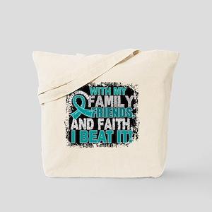 Ovarian Cancer Survivor FamilyFriendsFait Tote Bag