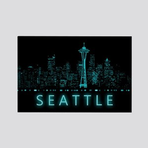 Digital Cityscape: Seattle, Washi Rectangle Magnet