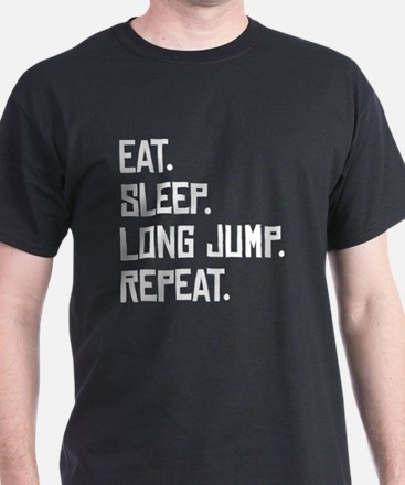 Eat Sleep Long Jump Repeat T-Shirt