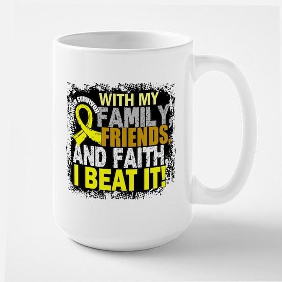 Osteosarcoma Survivor FamilyFriendsFait Large Mug