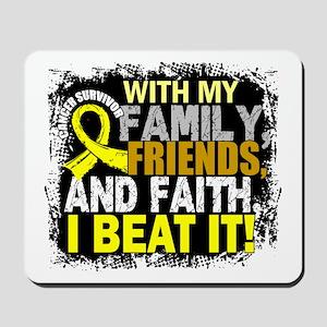 Osteosarcoma Survivor FamilyFriendsFaith Mousepad
