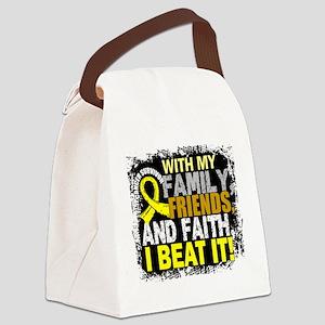 Osteosarcoma Survivor FamilyFrien Canvas Lunch Bag