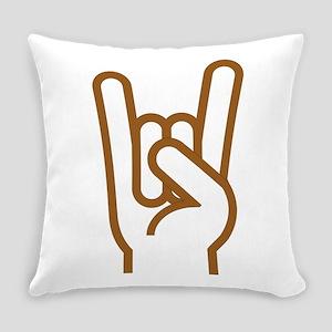 Metal Horns Everyday Pillow