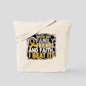Neuroblastoma Survivor FamilyFriendsFaith Tote Bag