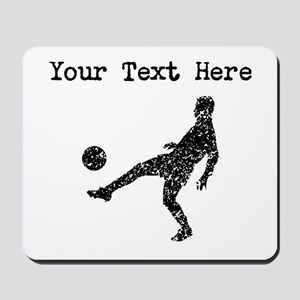 Distressed Soccer Player Silhouette (Custom) Mouse