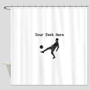Distressed Soccer Player Silhouette (Custom) Showe