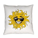 Smiley Face Sun Everyday Pillow