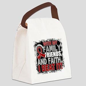 Multiple Myeloma Survivor FamilyF Canvas Lunch Bag