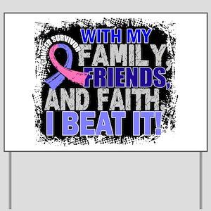 Male Breast Cancer Survivor FamilyFriend Yard Sign