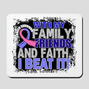 Male Breast Cancer Survivor FamilyFriend Mousepad