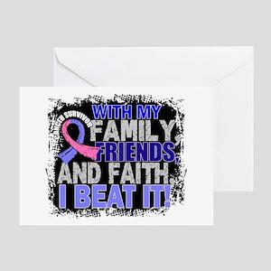 Male Breast Cancer Survivor FamilyFr Greeting Card