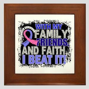 Male Breast Cancer Survivor FamilyFrie Framed Tile