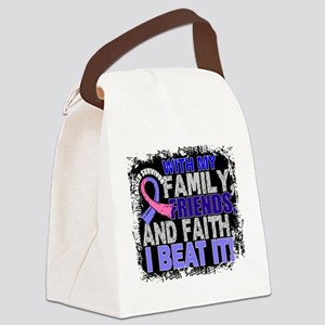 Male Breast Cancer Survivor Famil Canvas Lunch Bag