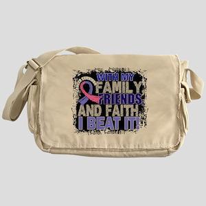 Male Breast Cancer Survivor FamilyFr Messenger Bag