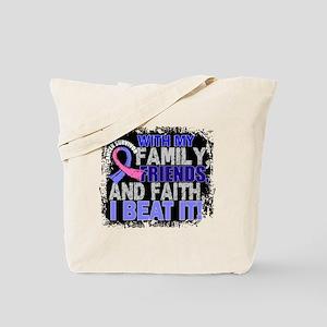 Male Breast Cancer Survivor FamilyFriends Tote Bag