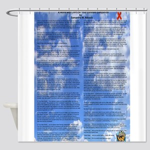 A World With CRPS - 39 x 25 Wall Pe Shower Curtain