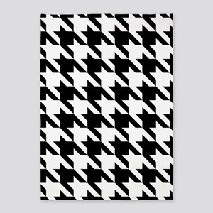 Oversize Houndstooth Check Pattern 5'x7'Area Rug