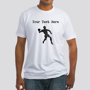 Distressed Racquetball Player Silhouette (Custom)