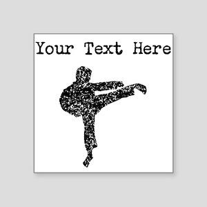 Distressed Karate Kick Silhouette (Custom) Sticker