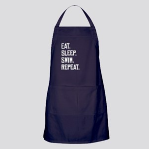 Eat Sleep Swim Repeat Apron (dark)