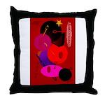 Red in Orbit Throw Pillow