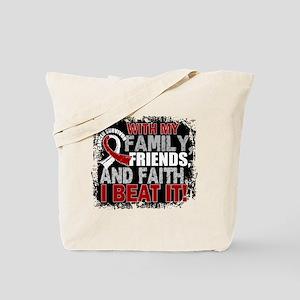 Head Neck Cancer Survivor FamilyFriendsFa Tote Bag