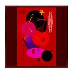 Red in Orbit Tile Coaster