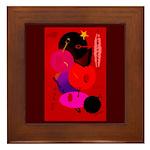 Red in Orbit Framed Tile