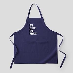 Eat Sleep Ski Repeat Apron (dark)
