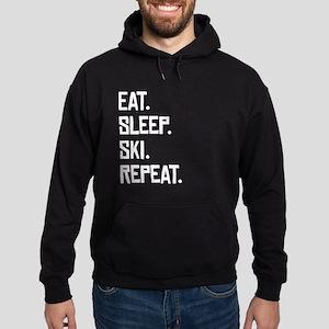 Eat Sleep Ski Repeat Hoodie