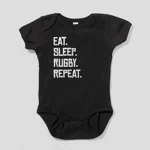 Eat Sleep Rugby Repeat Baby Bodysuit