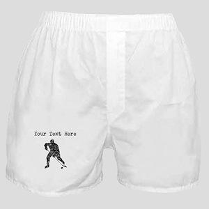 Distressed Hockey Player Silhouette (Custom) Boxer