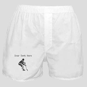 Distressed Hockey Player (Custom) Boxer Shorts