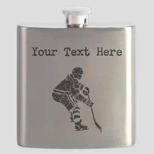 Distressed Hockey Player (Custom) Flask