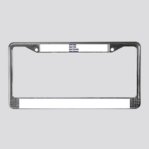 dont ask leather pride License Plate Frame