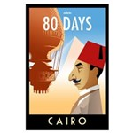80 Days Cairo Large Poster