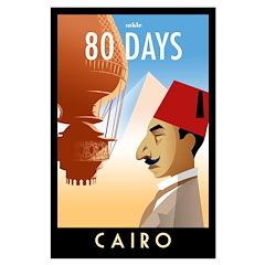 80 Days Cairo Poster Art