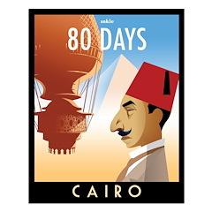 80 Days Cairo Poster Design
