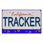 License Plate Rectangle Sticker