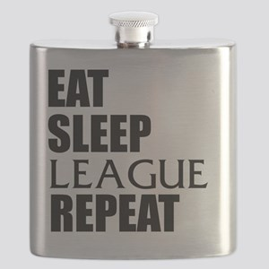 Eat Sleep League Repeat Flask
