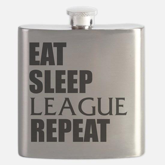 Eat Sleep League Repeat Flask