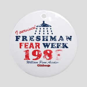 Goldbergs Freshman Fear Week Round Ornament