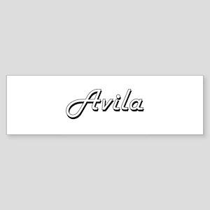 Avila surname classic design Bumper Sticker