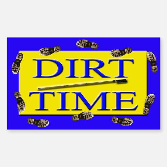 Dirt Time Rectangle Decal