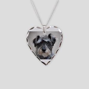 Schnauzer Necklace Heart Charm