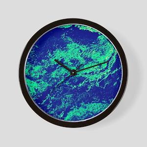 Glazed Marble Meltdown Wall Clock