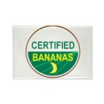 CERTIFIED BANANAS Rectangle Magnet (10 pack)