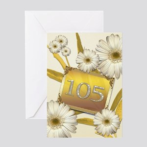 105th birthday card with lovely daisies Greeting C